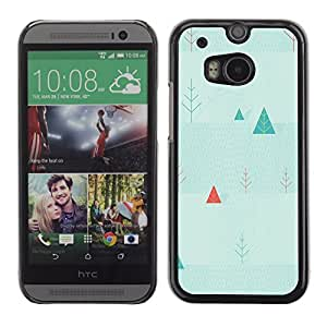 Graphic4You SIMPLE WINTER PATTERN HARD CASE COVER FOR HTC One (M8)
