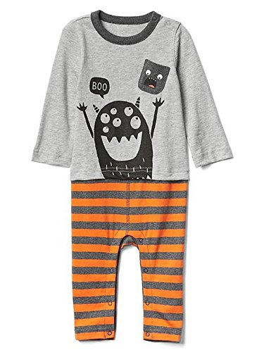 Gap Baby Boys Halloween Double Layer One Piece Pajama Bodysuit (0-3 - One Gap Piece Baby