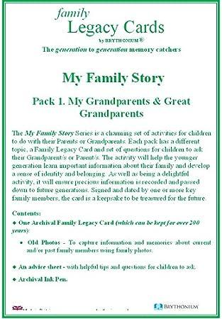 Mi familia historia Pack 1: Mi abuelos y gran abuelos – a lovely ...