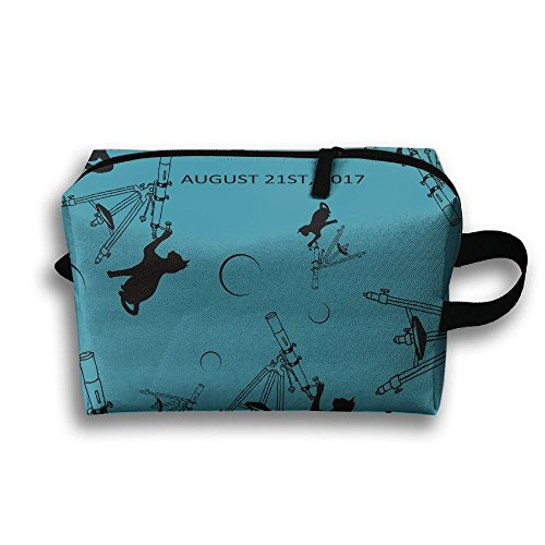 Cat Total Solar Eclipse Zipper Makeup Bag Cosmetic Bag Portable - For Can Sunglasses Work Eclipse