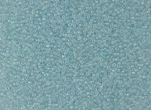 (15/0 Toho Japanese Glass Seed Beads - Dyed Light Blue Topaz Transparent Rainbow #170D (14g Tube))
