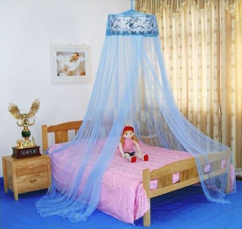 Housweety Sequins Curtain Netting Mosquito