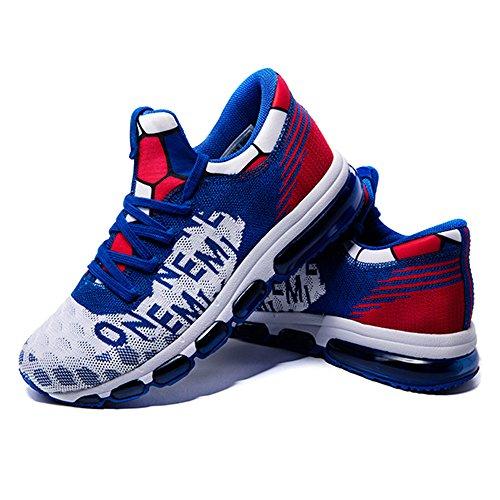 Männer AIR Kissen Sneaker Spirit weben Energie Aktion Laufschuhe Blau Rot