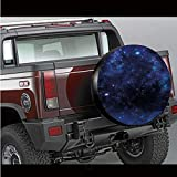 Spare Tire Cover,Abstract Astronomy Themed Nebula