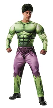 the avengers incredible hulk muscle chest adult costume super hero size x large