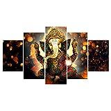 Dovewill Pintura Cuadro de Lona Impresión de Arte Colgante de Pared Sala de Estar Decorativo Casero - Elefante-L