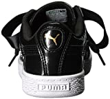 PUMA Girls' Basket Heart Glam Sneaker, Black Black, 10.5 M US Little Kid