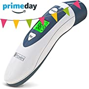 Baby Forehead Thermometer with Ear Function- iProven DMT489 Gray Cap - FDA and CE Approved - Clinical Accuracy Suitable for Baby, Infant, Toddler and Adults