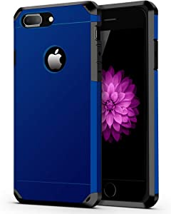 ImpactStrong iPhone 8 Plus Case/iPhone 7 Plus Case Heavy Duty Dual Layer Protection Cover Heavy Duty Case Compatible with iPhone 7 Plus / 8 Plus - Navy Blue