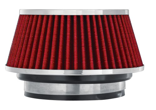 Universal Cone Adapter - Spectre Performance 8162 Universal Clamp-On Air Filter: Round Tapered; 3 in/3.5 in/4 in (102 mm/89 mm/76 mm) Flange ID; 2.625 in (67 mm) Height; 6 in (152 mm) Base; 4.75 in (121 mm) Top