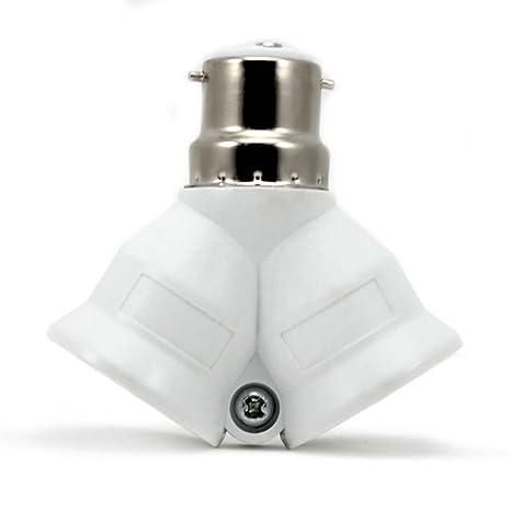 Coogam 8 Pack Bayonet BC B22 to ES E27 Socket Converter Lamp Base Adapter Lamp Holder Adaptor