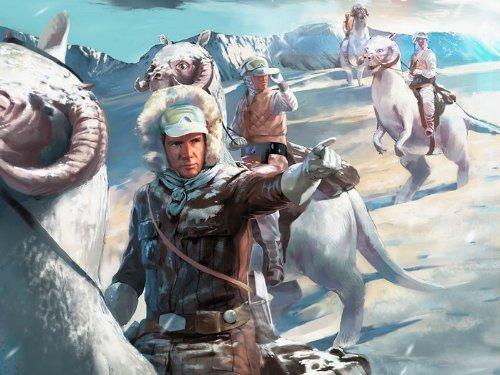 SV0768 Rebel Patrol Tauntauns Hoth Planet Painting Star Wars Art 24x18 Print POSTER -
