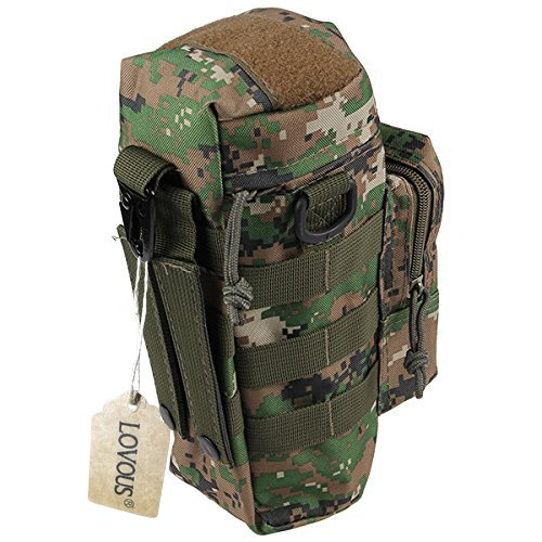 Kettle Bag - LOVOUS Military MOLLE Tactical Travel Water Bottle Kettle Pouch Carry Bag Case for Outdoor Activities (Camouflage color)