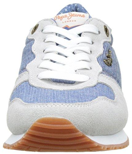 Pepe Jeans London Damen Gable Denim Combi Sneaker Blau (AZZURRO)