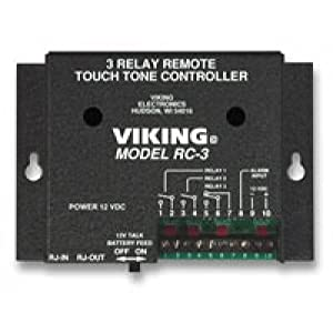 VIKING ELECTRONICS Control up to 3 Relay Contacts Remotely / RC-3 / by Viking Components