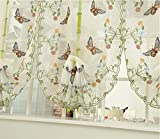YOYOMALL Korean Garden Living Room Bedroom Curtains,Upscale Embroidery Yarn Curtain,Lifting Balloon Curtain Roman Blinds. (Each Panel W*L(31″*98″)80*250cm) For Sale