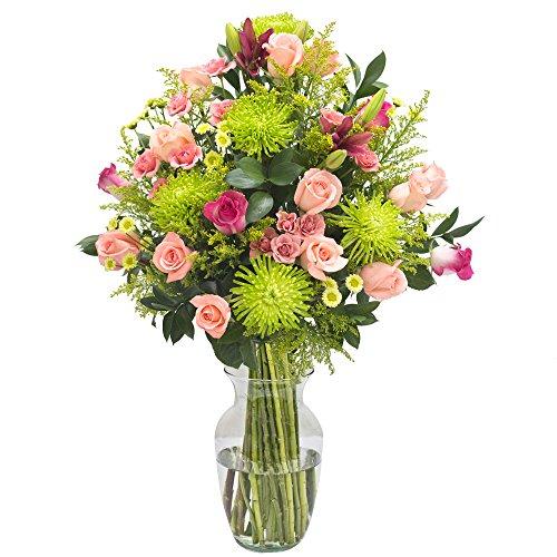 eFlowy Sweet Dreams Floral Arrangement Simpathy Vase by eFlowy