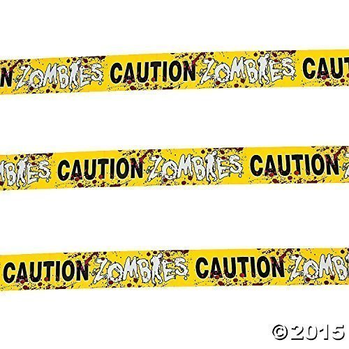 Halloween Caution Zombies Party Tape Roll Pack of 4]()