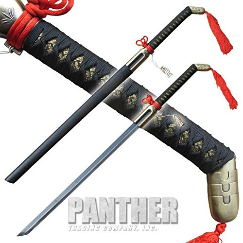 Antique Japanese Sword - Noble Katana with Red Fabric Antique Brass Finish