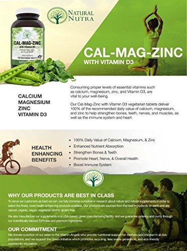 Natural Nutra Calcium Magnesium Zinc Supplement With Vitamin D3 1000