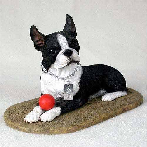 Terrier Figurine (Stone Resin Boston Terrier My Dog Figurine)