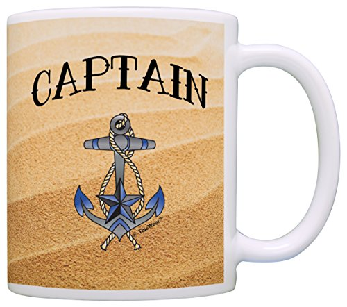 (Sailing Gift Captain Nautical Anchor Sailing Themed Gift Coffee Mug Tea Cup)