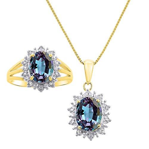 Diamond & Simulated Alexandrit