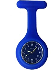 Nurse Watch Brooch, Silicone with Pin/Clip, Glow in Dark, Infection Control Design, Health Care Nurse Doctor Paramedic Medical Brooch Fob Watch