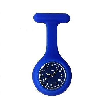 Enfermera reloj broche, alta calidad silicona con Pin/Clip, brilla en la oscuridad