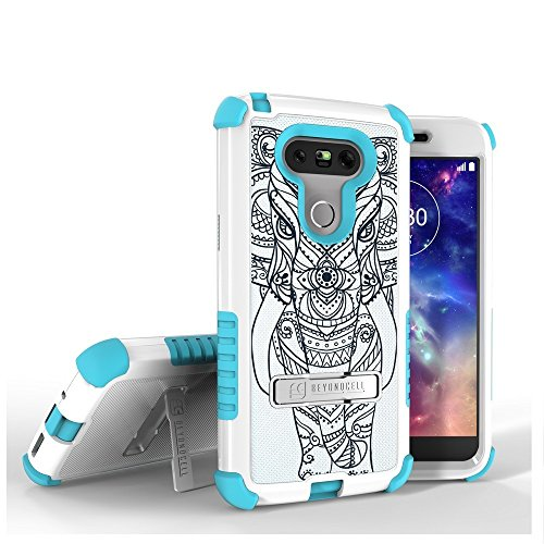 LG G5 Case, G5 Case,Beyond Cell Tri Shield [Dirtproof]High Impact Armor Hybrid Hard+Soft Rugged Case with built in kickstand-FREE Screen Protector-Tribal Elephant