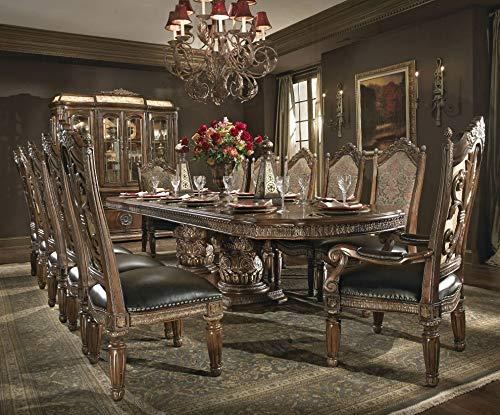 - Aico Villa Valencia Rectangular Table 9 Piece Dining Room Set