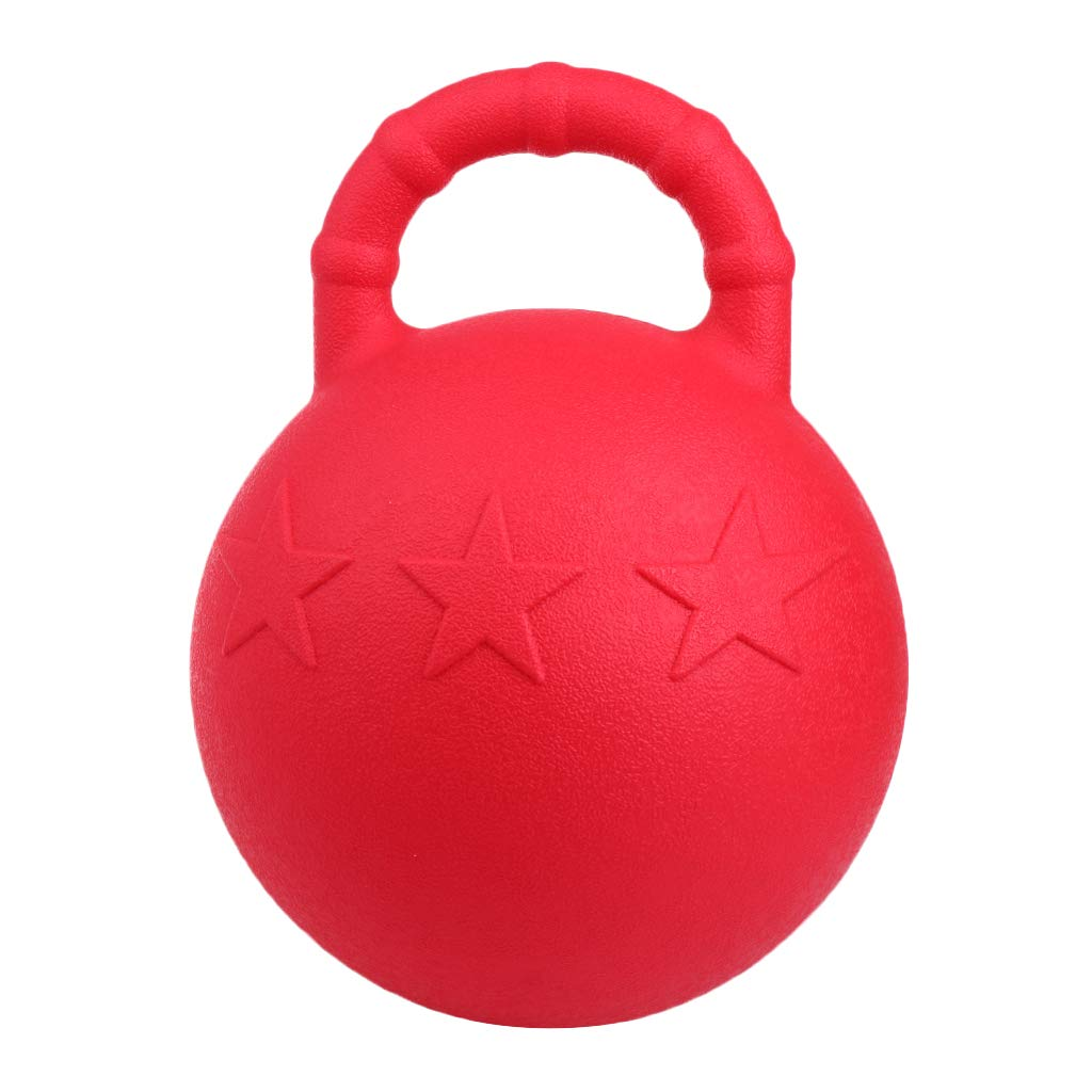 Fenteer Heavy Duty Horse Pony Dog Chew Jolly Ball, Rubber Play Training Toy 25cm Diameter