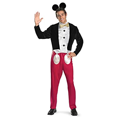Amazon.com: Disguise Mickey Mouse Deluxe Mens Adult Costume, Red ...