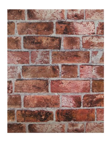 York Wallcoverings HE1044 Red Brick Wallpaper ()