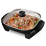 Sunbeam Oster DuraCeramic 12-Inch Electric Skillet, Black and White