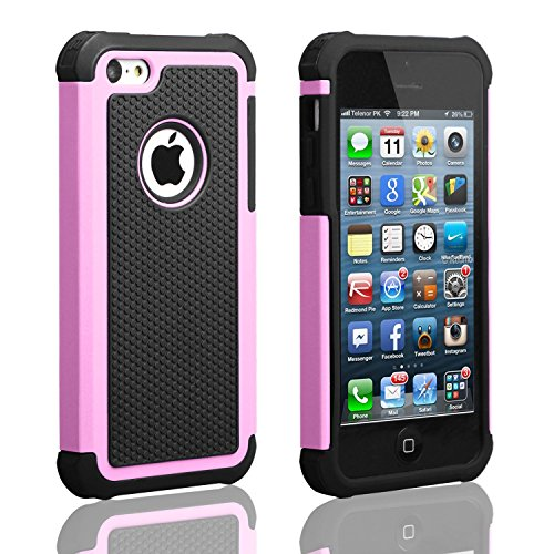 iPhone 5C Case, AUMI Hybrid Dual Layer Shock Absorbin Armor Defender Protective …