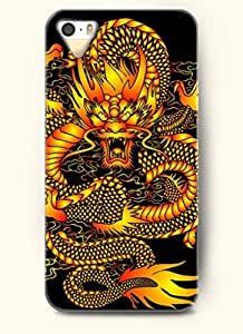 OOFIT Phone Case design with Golden Dragon for Apple iPhone 5 5s 5g by icecream design