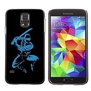 Paccase / SLIM PC / Aliminium Casa Carcasa Funda Case Cover para - Blue Ninja - Samsung Galaxy S5 SM-G900
