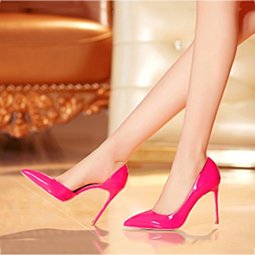 Boys' Side Size Shallow with Women's 39 Pointed High Red 10cm high Pink Color heels air Fine Single Shoes mouth shoes shoes heel rIBSHYr