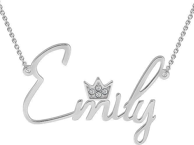 Tout Personnalisé Bijoux argent sterling 925 Nom Initiale Collier Cadeau D/'Anniversaire