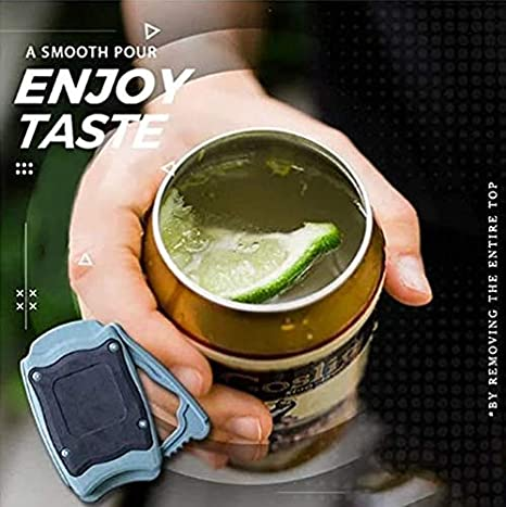1pc Go Swing Topless Can Opener Bar Tool Safety Easy Manual Can Opener with Locking Feature Effortless Openers Household Kitchen Tool for 8-19 oz Beverage Cans