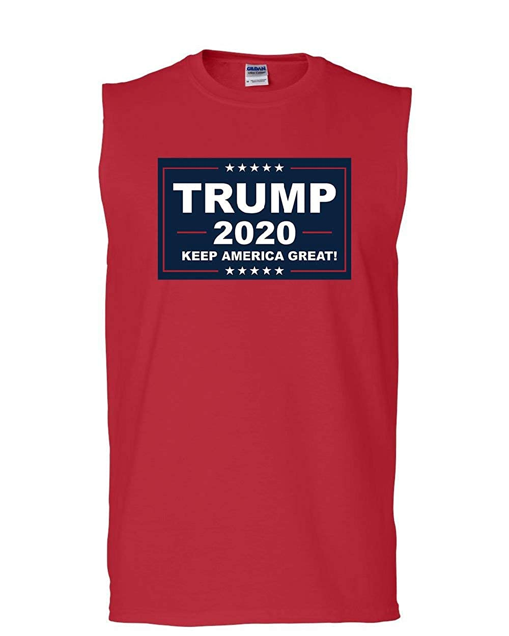Tee Hunt Trump 2020 Keep America Great Muscle Shirt MAGA Republican Political Sleeveless