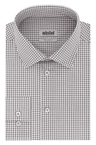 Unlisted by Kenneth Cole Men's Dress Shirt Regular Fit Checks and Stripes (Patterned)