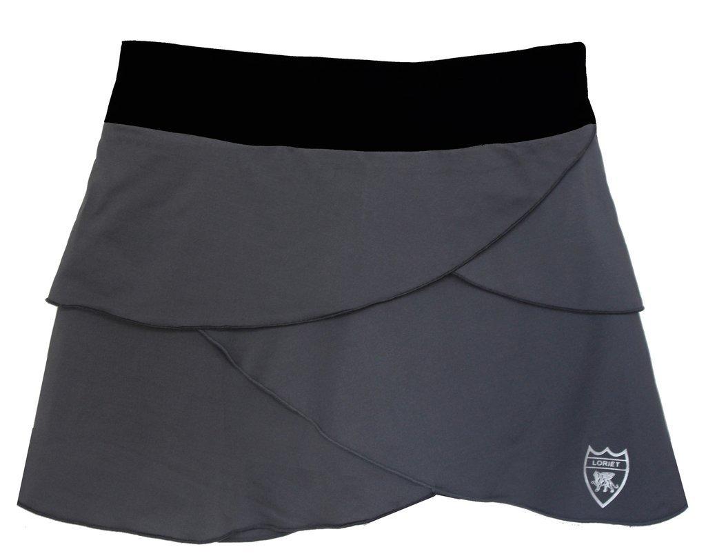 Loriet Women's Monaco Performance Skorts Grey/Black Medium