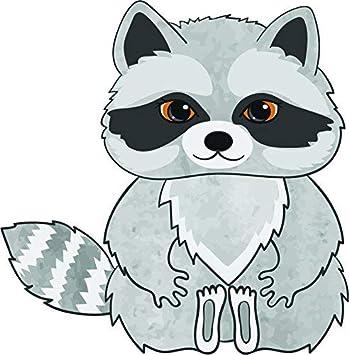Happy Raccoon Cartoon Car Bumper Sticker Decal 3/'/' or 5/'/'