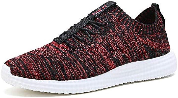 YZWD Zapatillas Padel Hombres Gimnasio Running Zapatos Zapatos De Hombre Casual Deportes Ligero Tejido De Mosca Correr Superficie Neta Transpirable 8 F: Amazon.es: Zapatos y complementos