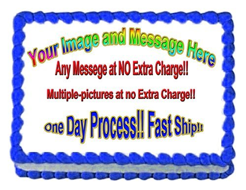 1/4 Sheet Create Your Own Custom Edible Cake or Cupcake Image Topper by Art of Eric Gunty