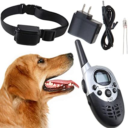 New 1000yard Remote Dog Training System w Rechargeable Waterproof 1 Shock Collar