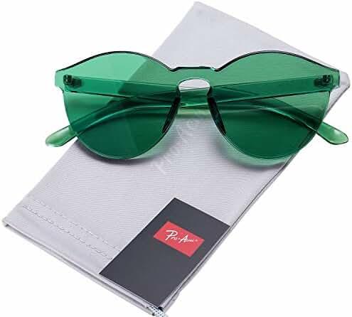Pro Acme One Piece Design Rimless Sunglasses Ultra-Bold Colorful Mono Block
