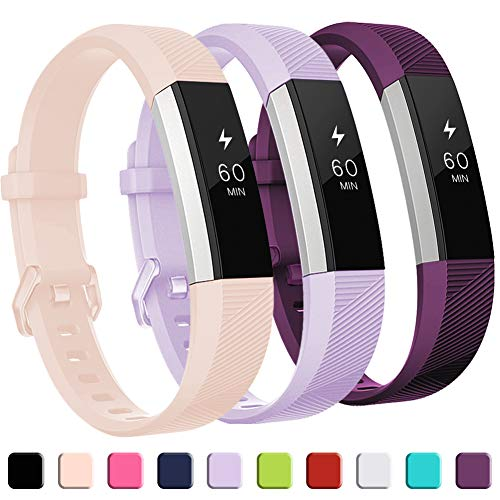 GEAK for Fitbit Alta HR Bands, Replacement Bands for Alta,3 Pack,Small,Pink Lavender Plum (Best Fitbit Bands Alta)